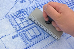approved construction blueprints