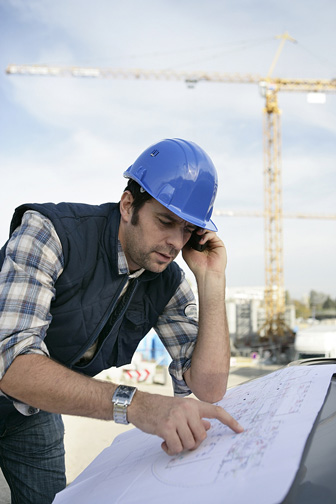 General Contractor at a Construction Site